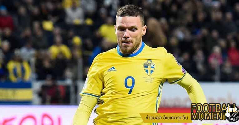 มาร์คัส เบิร์ก ถูกเรียกตัวให้เล่นกับทีมสวีเดนครั้งแรก